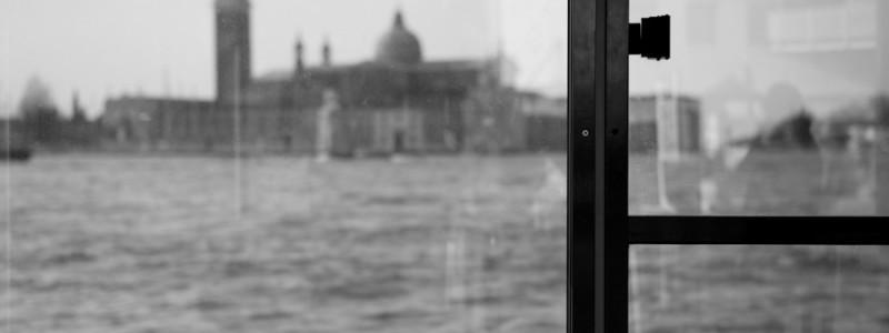 Venice, Italy - Church of S. Giorgio Maggiore, black and white photo