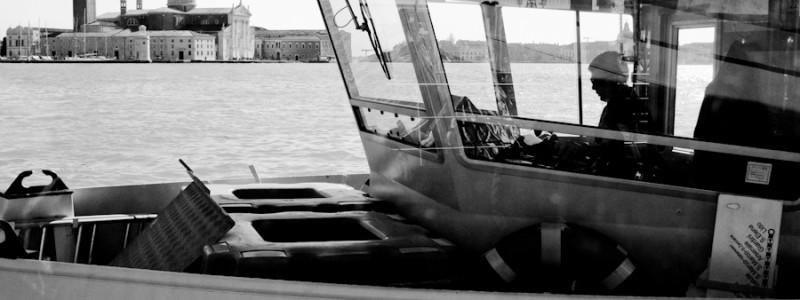 Venice-A view of S. Giorgio Maggiore island, black & white landscape photo
