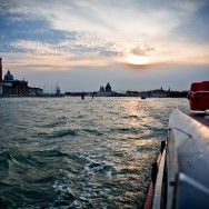 Venice - St. Mark's basin at sunset, color landscape photo