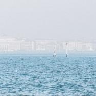 Venice - city skyline in the morning haze, color landscape photo