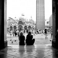 Venice - tourists stare at St. Mark's square